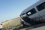 Маршрутка с пассажирами и легковушка столкнулись под Бишкеком — видео очевидца