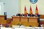 Премьер-министр Кыргызской Республики Мухаммедкалый Абылгазиев провел очередное заседание правительства Кыргызской Республики. Архивное фото