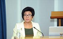 Архивное фото министра труда и социального развития Кыргызской Республики Таалайкуля Исакуновой