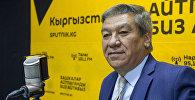 Посол Исламской Республики Афганистан в Кыргызстане Мохаммад Исса Месбах во время интервью на радио Sputnik Кыргызстан