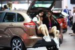 Модели на автомобиле. Архивное фото