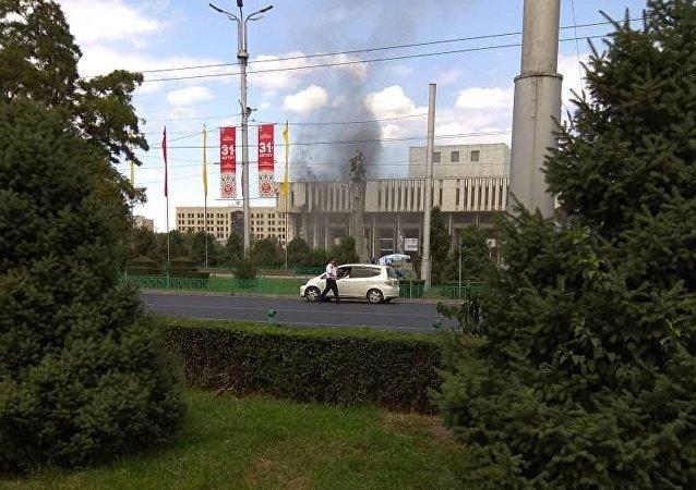 Пожар в Национальной филармонии имени Токтогула Сатылганова
