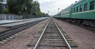 Платформа железнодорожного вокзала Бишкека.