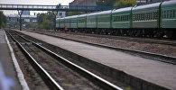 Кыргызстандагы темир жол вокзалы. Архив