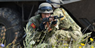 Военнослужащие КР на совместных военных антитеррористических учениях Мирная миссия – 2018 на полигоне в Чебаркуле
