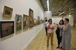 Выставка Диалоги с палитрой в Московском центральном доме художника
