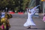 Праздничные мероприятия на площади Ала-Тоо в Бишкеке. Архивное фото