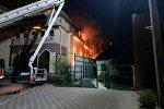 Пожар в кафе Арзу в селе Лебединовка. Архивное фото