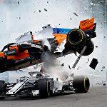 Бельгиядагы Формула-1 чемпионатында Фернандо Алонсо менен Шарль Леклеранын унаалары кагышкан.
