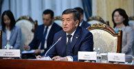 КР президенти Сооронбай Жээнбеков кыргыз-түрк бизнес форумунда