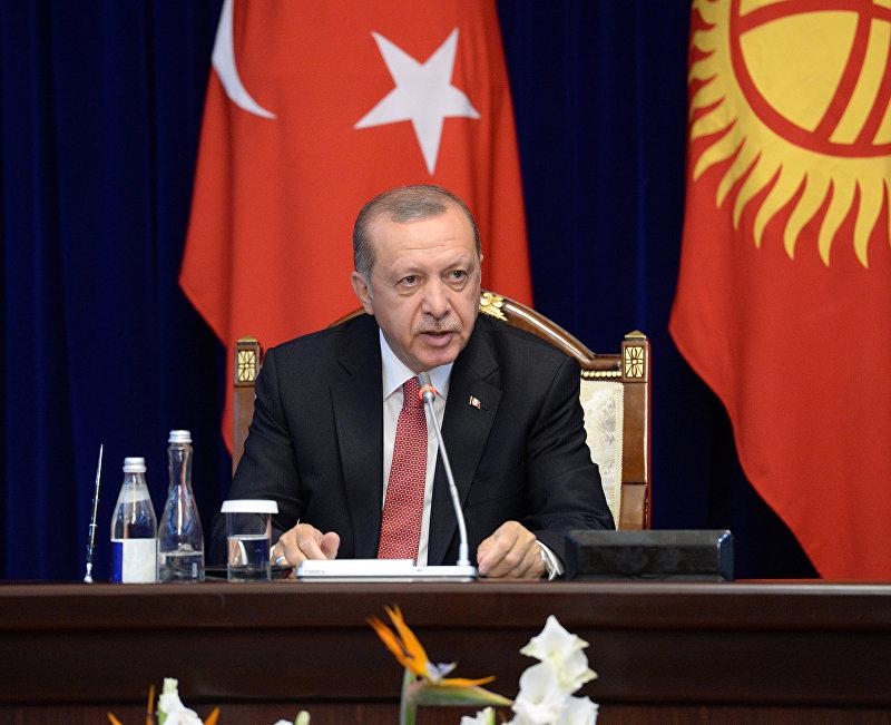 Президент Турецкой Республики Реджеп Тайип Эрдоган сделал заявление для представителей средств массовой информации по итогам двусторонних переговоров