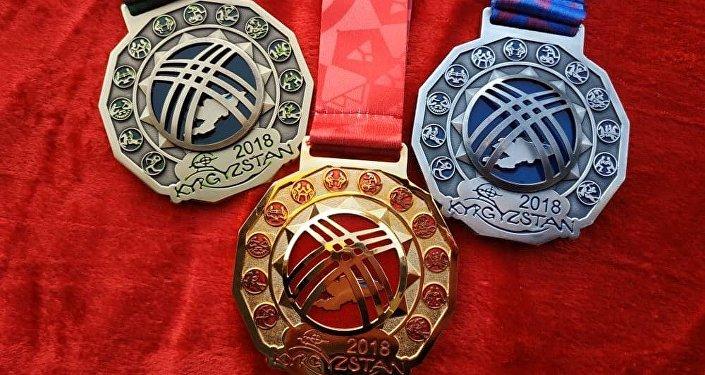 Презентация медалей III Всемирных игр кочевников