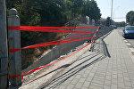 Микроавтобус упал с моста в Оше