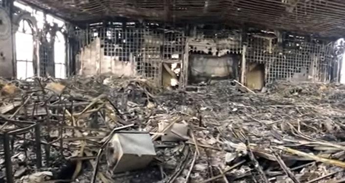 Обугленное и разрушенное кафе Арзу — печальное видео после пожара