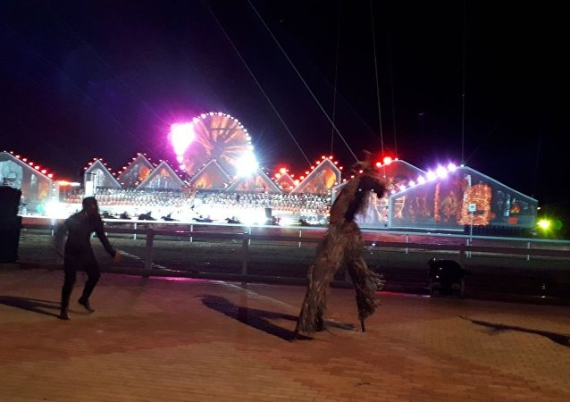 Театрализованное представление на церемонии открытия III Всемирных игр кочевников