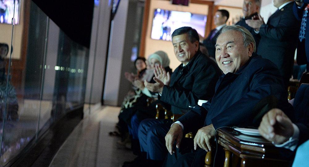 Картинки по запросу Назарбаев на церемонии открытия 3-х Всемирных игр