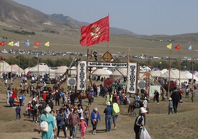 Культурные мероприятия в ущелье Кырчын Иссык-Кульской области во время Всемирных игр кочевников — 2018