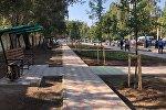 Бишкекте Байтик баатыр менен Сүйөркулов көчөлөрүнүн кесилишинде шаардыктардын эс алуусу үчүн жаңы аллея пайда болду