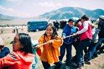В ущелье Кырчын в рамках Всемирных игр кочевников проводятся детские игры