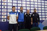 Пресс конференция перед футбольным матчем между Кыргызстаном и Палестиной