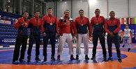 Спортсмены Кыргызстана стали чемпионами, завоевав все золотые медали соревнований по кыргыз курошу (в семи весовых категориях)