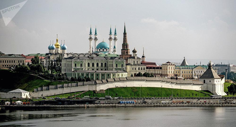 Вид на Казанский Кремль. Российская Федерация