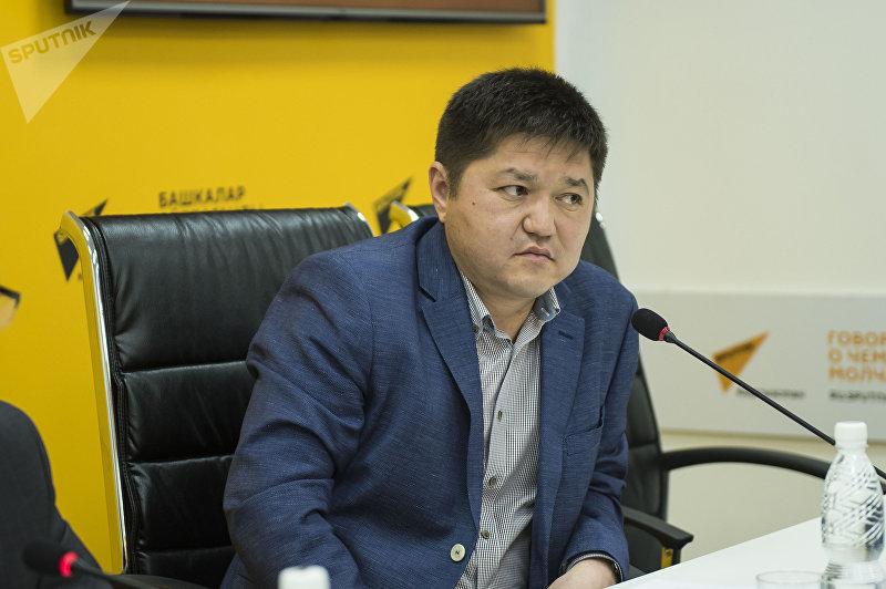 Представитель общественного совета Министерства финансов КР Сатыбеков Бакытбек в мультимедийном центре Sputnik Кыргызстан