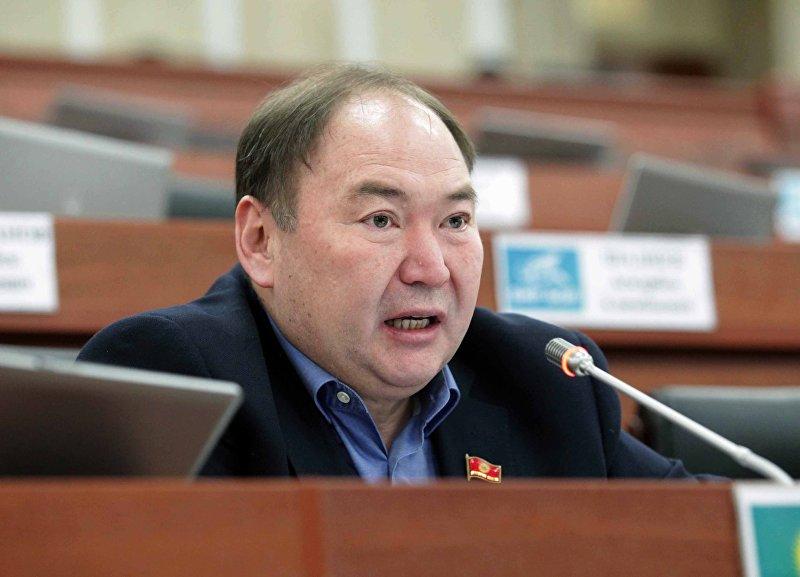 Депутат от фракции Кыргызстан Салайдин Айдаров во время заседания в Жогорку Кенеше