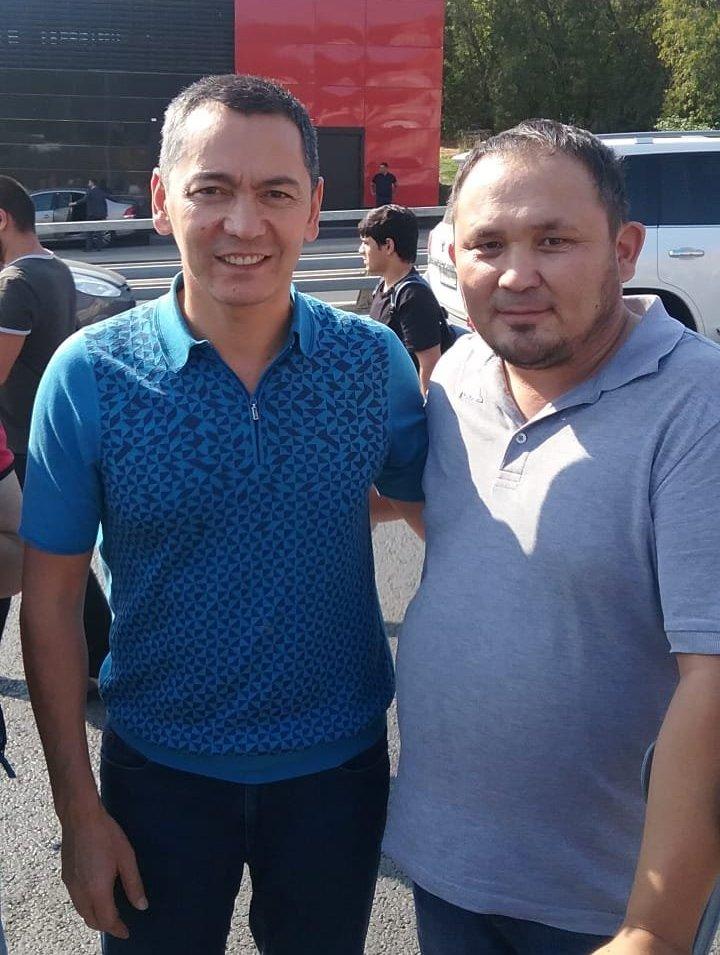 Экс-депутат ЖК Омурбек Бабанов и кыргызстанец Талант Дайыров в Москве