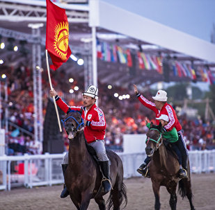 Кыргызстандын көк-бөрү боюнча курама командасы. Архивдик сүрөт