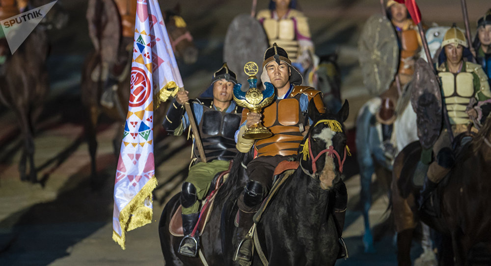 Участники Всемирных игр кочевников. Архивное фото