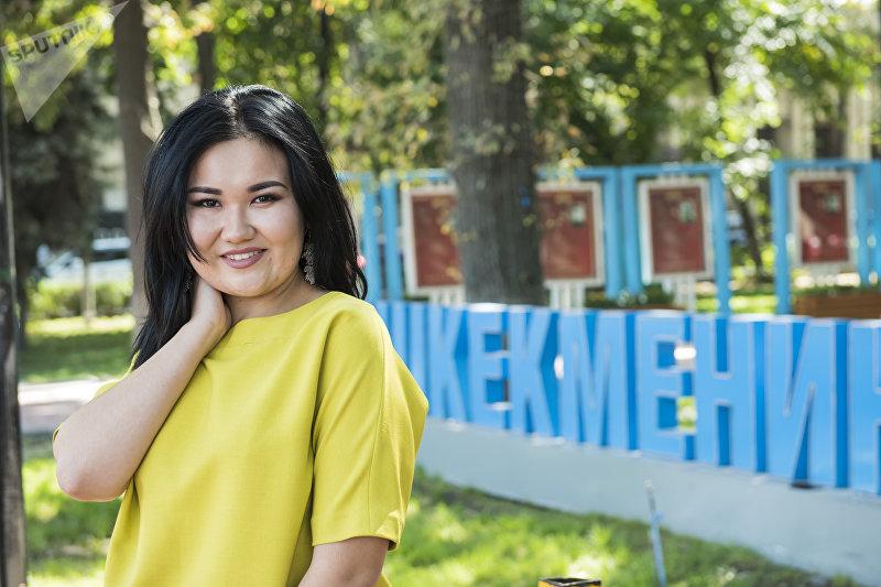 Студентка престижного Санкт-Петербургского государственного института кино и телевидения Айзада Бекбалаева