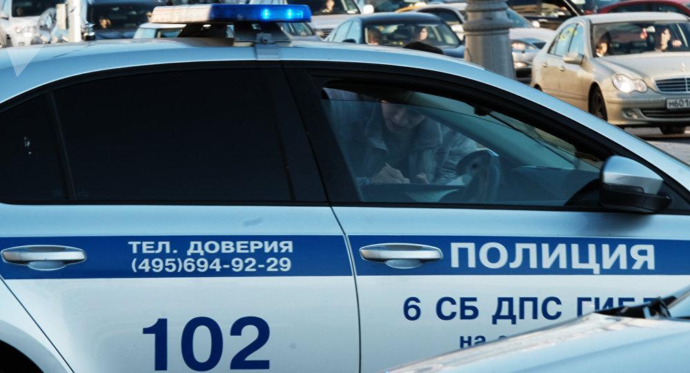 Москва шаарындагы полиция автоунаасы. Архив