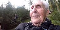 Ему 106 лет. Эмоции крутого дедушки, решившегося на невероятное, — видео