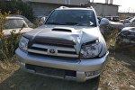 Автомобиль, на котором насмерть сбили женщину на пересечении улиц Ахунбаева и Шукурова в Бишкеке