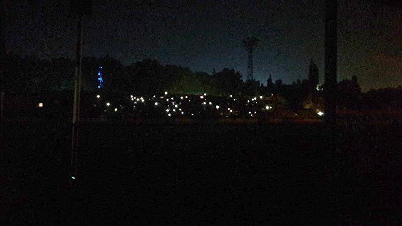 На стадионе имени Долона Омурзакова во время футбольного матча Кыргызстан — Сирия отключились прожекторы