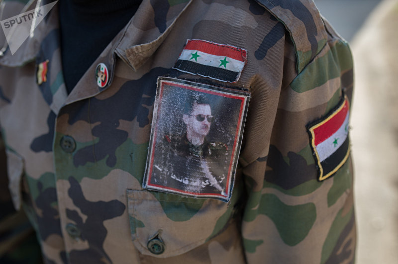 Обучение добровольцев сирийской армии в пригороде Дамаска