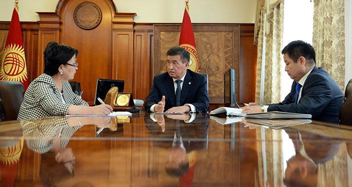 Президент Сооронбай Жээнбеков принял Гульмиру Кудайбердиеву