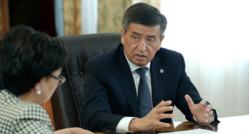 Мамлекет башчы Сооронбай Жээнбеков өлкөнүн билим берүү жана илим министри Гүлмира Кудайбердиеваны кабыл алды
