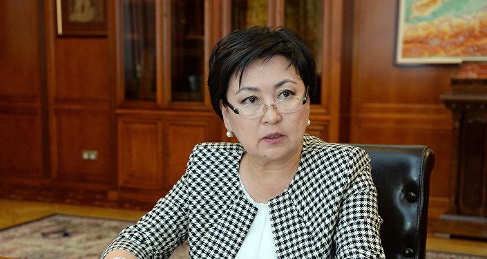 Министр образования и науки Кыргызстана Гульмира Кудайбердиева