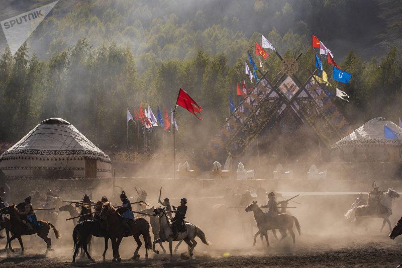 Театрализованное представление сражение в поле