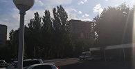 Возле отеля Ак-Кеме горит строящееся здание. Видео