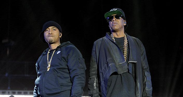 Америкалык реперлер Jay-Z жана Nas. Архив