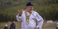 Известный повар из Германии Томас Гуглер в ущелье Кырчын, во время  III Всемирных игр кочевников