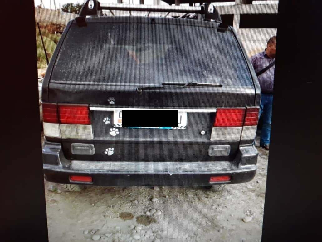 Автомобиль марки SsangYong Musso убитого таксиста