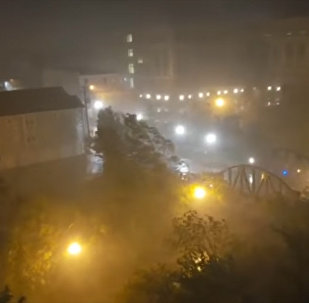 Обрушившийся на США ураган Флоренс сняли на видео