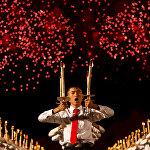 Пхеньянда Түндүк Кореянын түптөлгөнүнүн 70 жылдыгына карата салтанат өттү