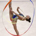 Анастасия Салос (Беларусь) на чемпионате мира по художественной гимнастике