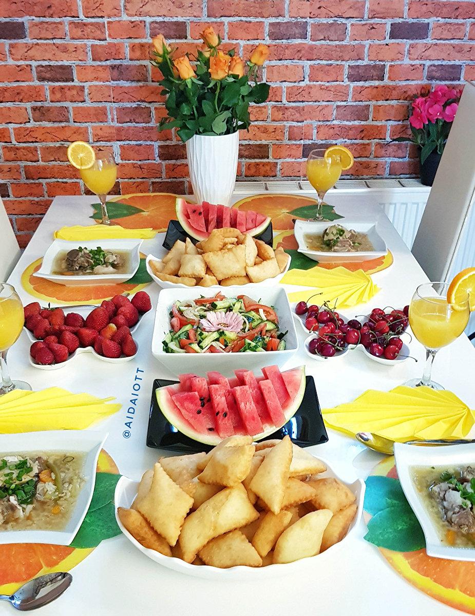 Блюда приготовленные поваром Айдай Сагындыковой