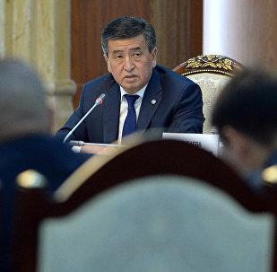 Президент Сооронбай Жээнбеков Ала-Арча мамлекеттик резиденциясында ишкерлер менен жолукту